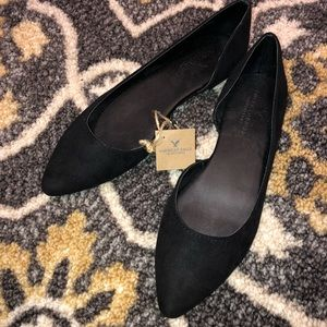 NWT American Eagle | D'orsay Suede Black Flats